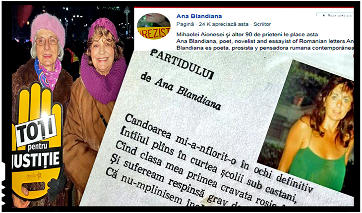 """Bolșevismul Rezistă! Ana Blandiana: """"Chiar şi fizic, membrii USR sunt deosebiți de ai celorlalte partide"""", Foto: facebook"""