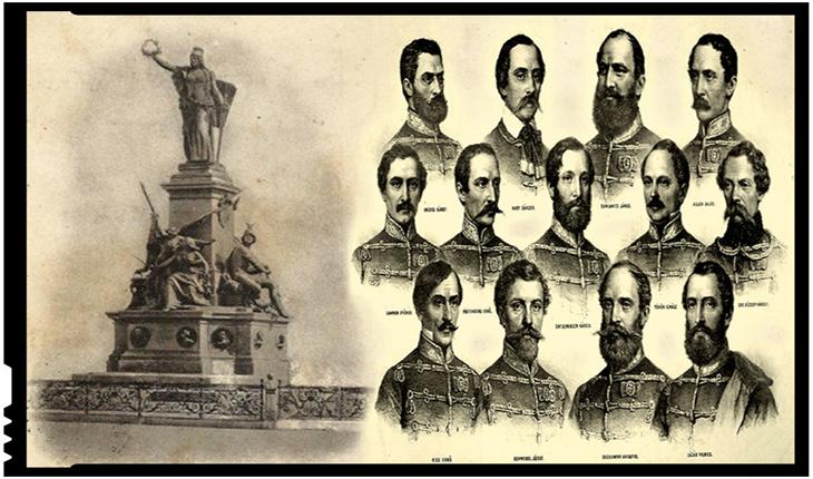 """La Arad se cere demolarea sau mutarea Monumentului celor 13 Generali: """"Comemorează 13 generali care și-au permis 'libertatea' de a ucide 40.000 de români din 300 de sate"""""""