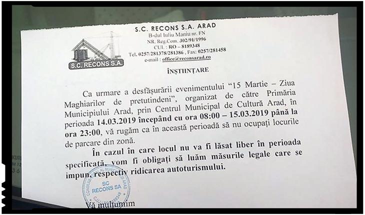 """Incredibil! Arădenii au de suferit 2 zile din cauza """"Zilei Maghiarilor de pretutindeni"""""""