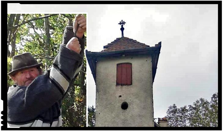 Unul dintre ultimii români din Vârghiș și un Clopot al cărui glas nu poate fi frânt, până la Judecata de Apoi, Foto: facebook.com/mihai.tirnoveanu.7