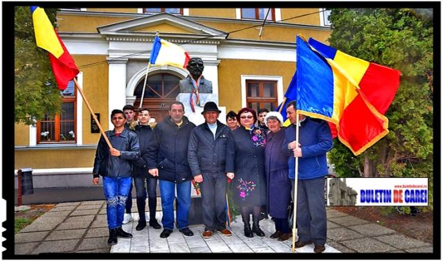 15 martie 2019: La Carei a fost cinstită memoria Eroului Național Avram Iancu și a ideologului Revoluției pașoptiste, Simion Bărnuțiu, Foto: Buletin de Carei