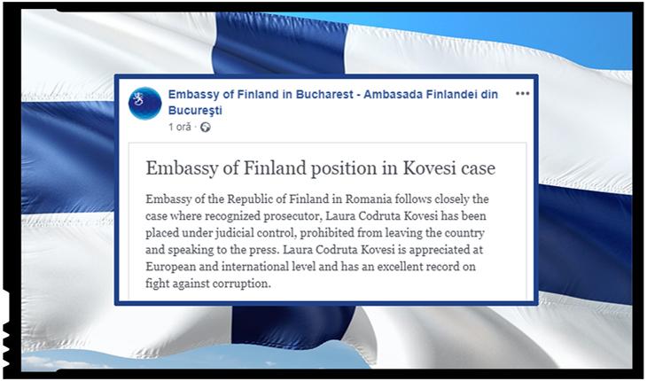 Nesimțire... diplomatică: Ambasada Finlandei anunță că urmărește îndeaproape cazul lui Kovesi, Foto: facebook