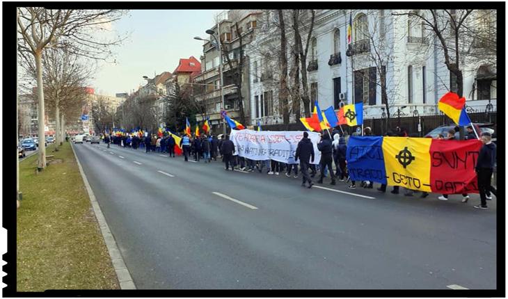 Marș de protest împotriva proiectelor de legiferare a parteneriatului civil, Foto: facebook.com/Sunt-Nationalist-259743848196256/