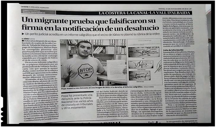 """""""Cinstita"""" Europă: unui român i-a fost falsificată semnătura într-o frauda ipotecară, Foto: facebook.com/marian.popa.353803"""
