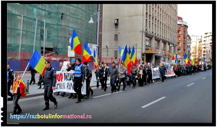 Deși a fost protest împotriva parteneriatului civil, presa mainstream nu răsuflă nici o vorbă, Foto: razboiulinformational.ro