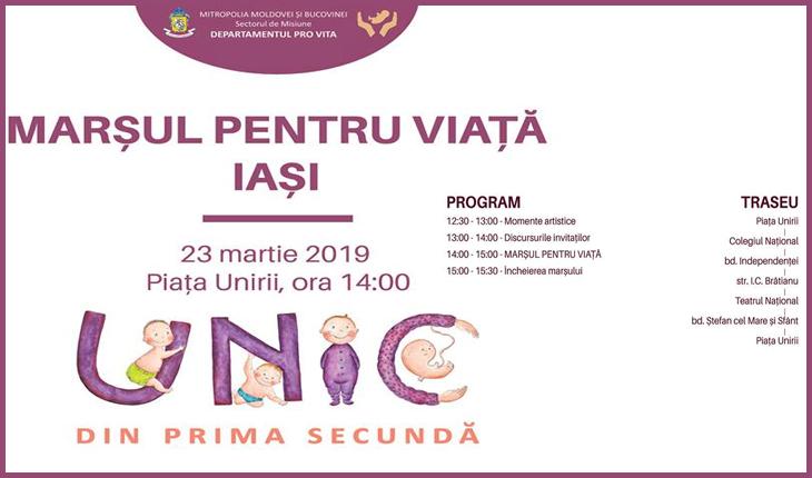 """Azi are loc Marșul pentru Viață de la Iași: """"UNIC din prima secundă"""", Foto: facebook.com/MarsulpentruViataIasi"""