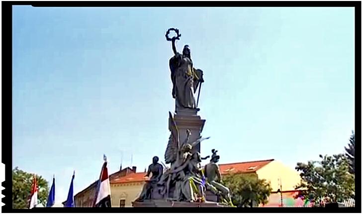 """Cum a devenit statuia unor criminali de zeci de mii de români, monument al """"Libertății""""?, Foto: youtube"""