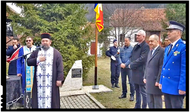 Ceremonial militar și religios organizat la Brașov la mormântul lui Nicolae Titulescu, Foto: facebook.com/jandarmeriabrasov.ro
