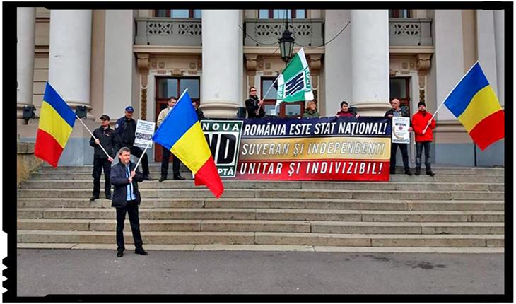 Noua Dreaptă, singurul partid care a protestat public împotriva agresiunii antiromânești de pe 15 martie, Foto: facebook.com/aurel.pascu.1