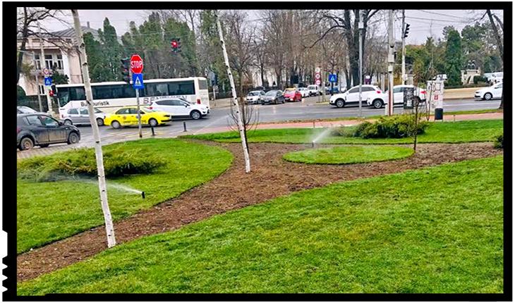 Încă un parc din Iași îmbracă haine noi: gazon, aspersoare și mobilier urban pentru Parcul Berthelot, Foto: facebook.com/serviciipubliceiasi