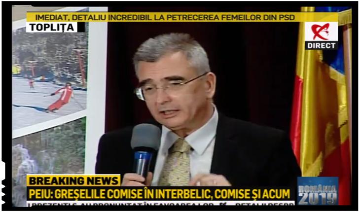 """Petrișor PEIU: """"Orban folosește UDMR pentru a crea probleme României"""", Foto: Realitatea TV"""