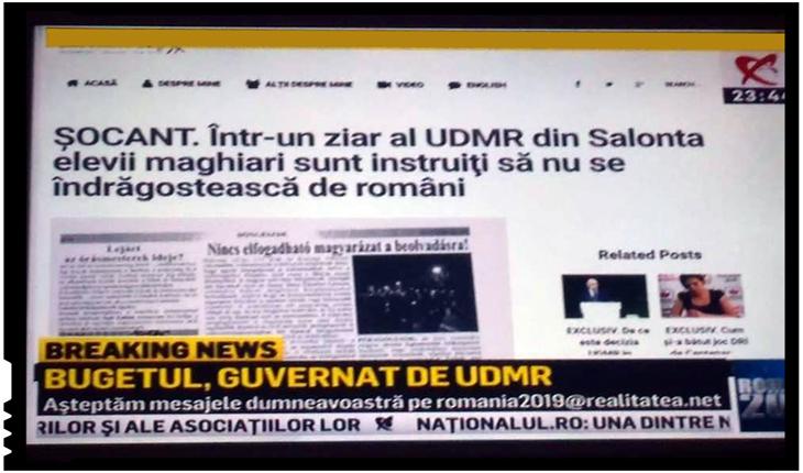 Îndemnuri la segregare etnică la Salonta din partea unui consilier UDMR, Foto: Realitatea TV