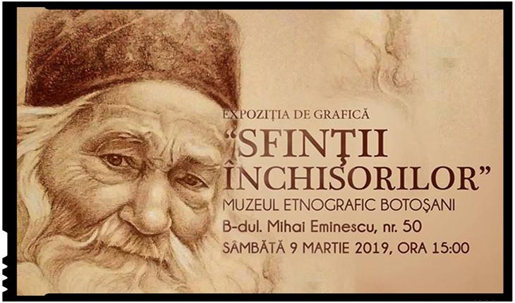 9 Martie 2019: Sfinții Închisorilor, expoziție de grafică, la Botoșani, Foto: facebook.com/PlatformaImpreuna