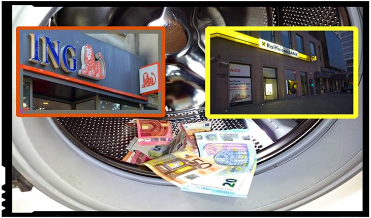 Acuzații de spălare de bani pentru ING și Raiffeisen Bank: prăbușire pe bursă pentru cele două bănci