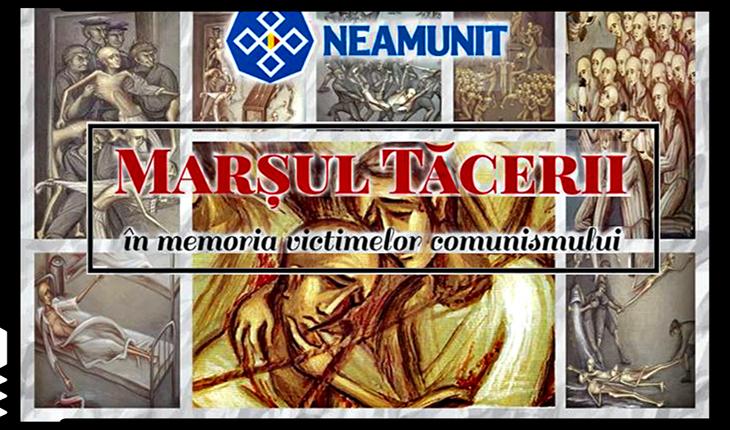 9 Martie - Marșul tăcerii în memoria victimelor comunismlui, Foto: facebook.com/Neamunit
