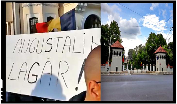 """AuguSTALIN LAGĂR: """"Nu mai vrem în țară, javră torționară!"""", Foto: facebook.com/Veninosul3.0"""