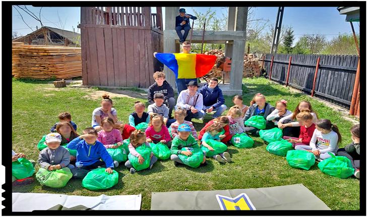 Comunitatea Identitară și Frontul Patrioților Români au împărțit daruri cu ocazia sfantului Pasti copiilor din satul Șendreni pe malul Prutului