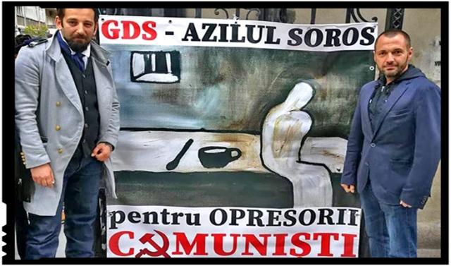 Protest în fața cuibului de bolșevici de la GDS, Foto: facebook.com/dan.chitic