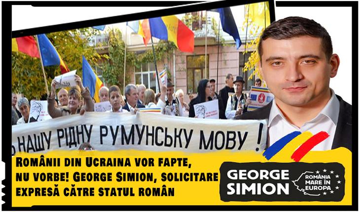Românii din Ucraina vor fapte, nu vorbe! George Simion, solicitare expresă către statul român
