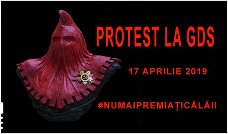 PROTEST la GDS împotriva premierii lui Augustin Lazăr