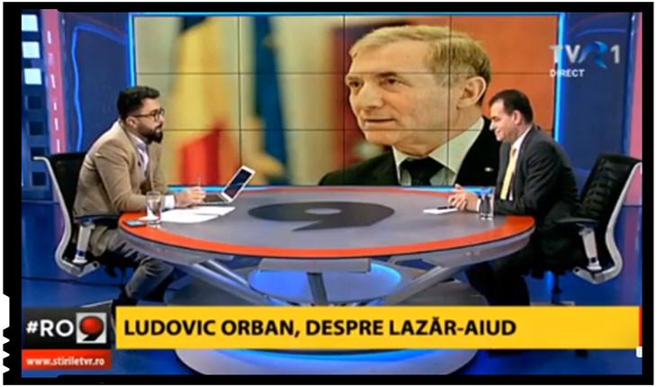 """Ludovic Orban despre cazul Lazăr: """"Nu am înțeles care-i chestiunea cu deținutul politic.Nu mai încercați să spuneți lucruri care n-au nicio legătură cu realitatea!"""", Foto: TVR 1"""