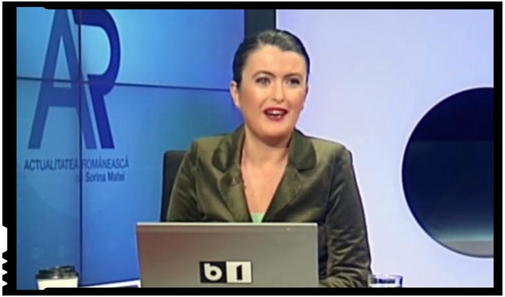 """Sorina Matei: """"Zbirul de la Aiud, disperat să-şi acopere Aiudul.Omul calcă pe Revoluție disperat să scape de Aiud"""", Foto: B1 TV"""