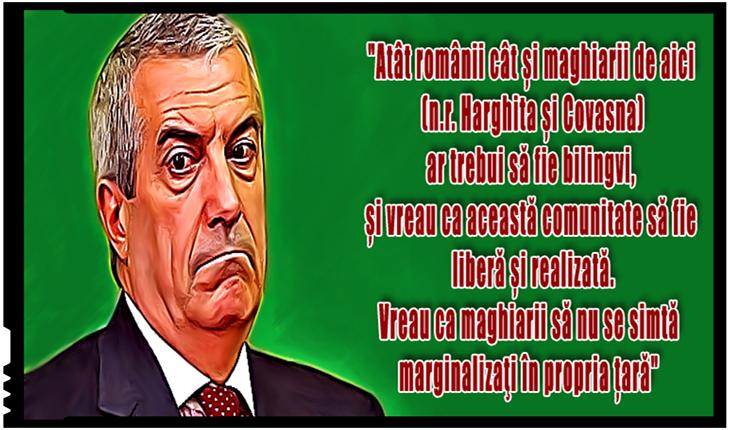 Tăriceanu îi vrea maghiarizați pe românii din Harghita și Covasna pentru ca maghiarii să nu se simtă ... marginalizați!