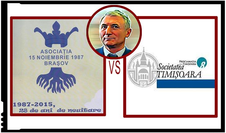 Asociația 15 Noiembrie 1987 Brașov i-a solicitat Societății Timișoara retragerea premiului acordat lui Augustin Lazăr