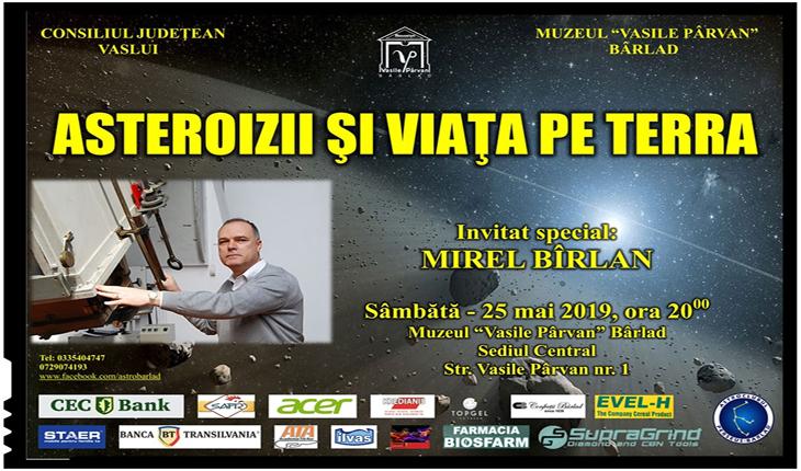 """Prezentarea publică """"Asteroizii şi viaţa pe Terra"""" - invitat special Mirel Bîrlan"""