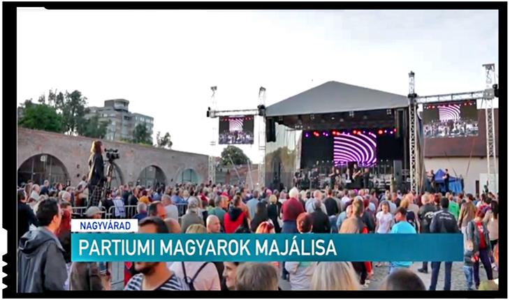 Bani publici folosiți pentru segregare etnică la Oradea: UDMR Bihor informează doar publicul maghiar, Foto: captură TV Erdélyi Magyar Televízió