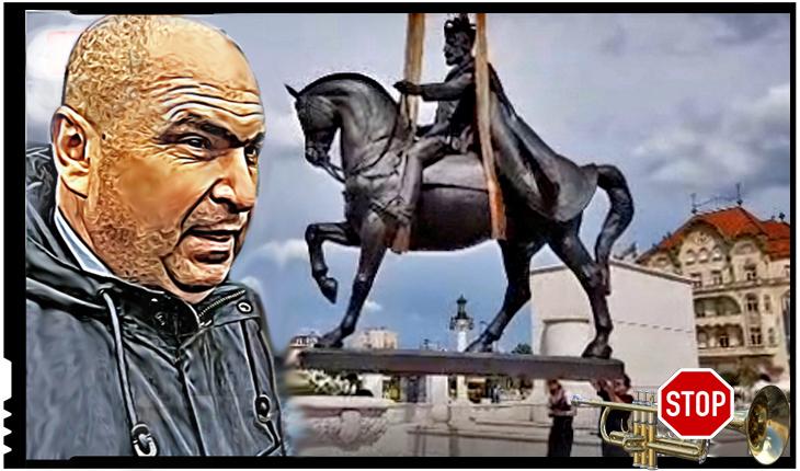 O palmă dată unui Bolovan? Ceremonia dezvelirii statuii lui Ferdinand sabotată de militarii români