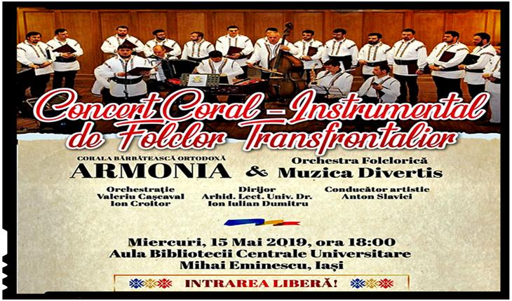 Concert Coral - Instrumental de Folclor Transfrontalier la Iași, Foto: facebook.com/iubiresiincredere