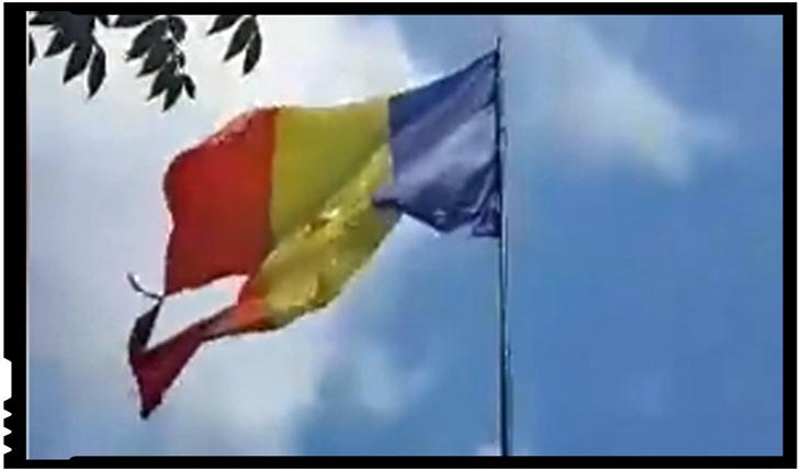 (VIDEO) Drapelul României batjocorit la câțiva pași de Palatul Parlamentului!, Foto: captura video