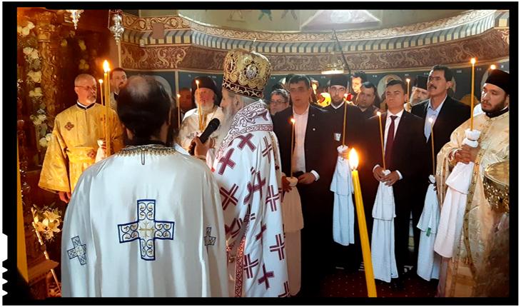 George Simion și primarul Iașului, prezenți la resfințirea bisericii de la Mănăstirea Vlădiceni
