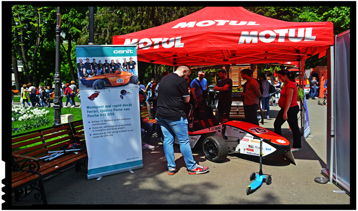 Studenții ieșeni de la T.U.Iasi Racing Team, o prezență inedită de Ziua Tatălui