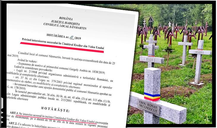 De noaptea minții! Un CL din județul Harghita hotărăște interzicerea accesului într-un cimitir de pe teritoriul unei localități din Județul Bacău?