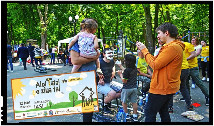 Ziua Tatălui la Iași, un succes peste așteptările organizatorilor: activități în aer liber, cursuri de pictură, meșteșugărit