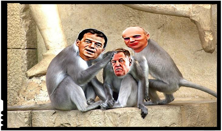 La Iași s-a răsturnat cutia cu maimuțe: Ludovic Orban și Rareș Bogdan culegeau scamele de pe sacoul lui Iohannis