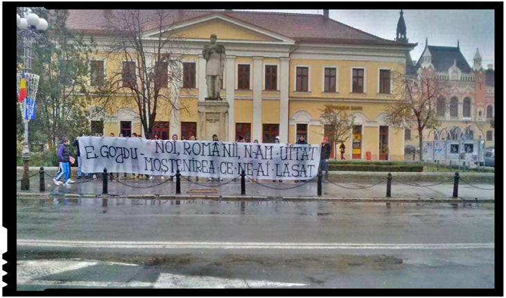 """George Simion despre prigonirea lui Mihai Viteazul la Oradea: """"Sunt aceiași care ne-au vândut moștenirea Gojdu!"""", Foto: facebook.com/george.simion.unire"""