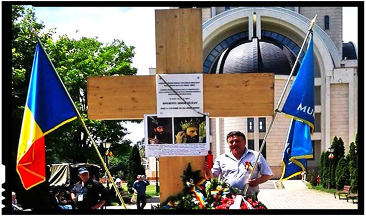 Mihai Viteazul, exilat la Oradea, adorat la Bacău: de Ziua Eroilor un Lt (r) a publicat tabloul domnitorului pe Troița Eroilor Neamului Românesc din Parcul Catedralei, Foto: facebook.com/botomei.vasile