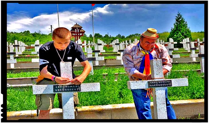 Comemorare emoționantă la Cimitirul Eroilor Români de la Țiganca, din Republica Moldova, Foto: Facebook / Valentina Meșina