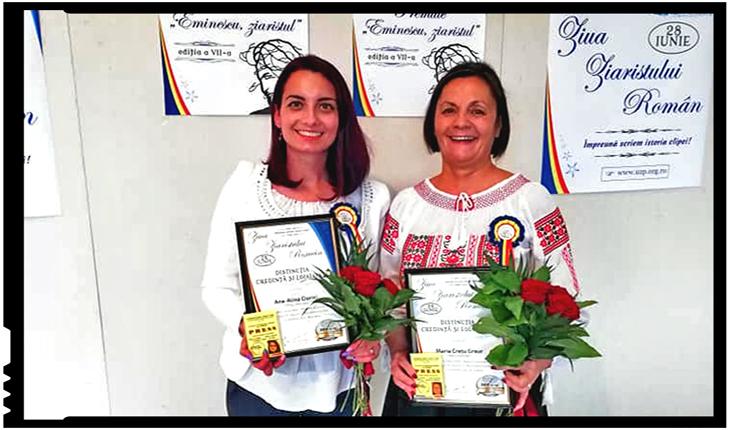 Româncele care mențin o oază de românism jurnalistic în Covasna, premiate pentru activitatea, pasiunea și loialitatea față de profesie, Foto: facebook.com/mesageruldecovasna
