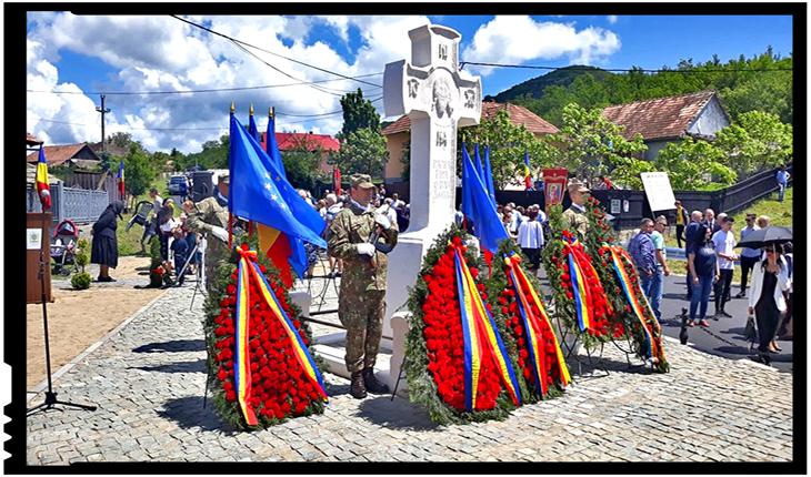 La Șoimeni, județul Cluj, a avut loc sfințirea și inaugurarea monumentului închinat eroilor din cele doua războaie mondiale, Foto: facebook.com/societateaavramiancu.romania