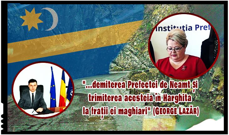 """Scandal la Neamț între fostul și actuala prefectă: """"Demiterea prefectei de Neamț și trimiterea acesteia în Harghita la frații ei maghiari"""""""