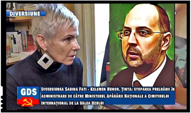Diversiunea Sabina Fati - Kelemen Hunor. Ţinta: stoparea preluării în administrare de către Ministerul Apărării Naţionale a Cimitirului Internaţional de la Valea Uzului, Foto: TVR / Trucaj