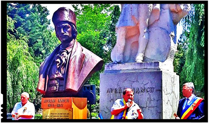 Un bust al lui Avram Iancu a fost inaugurat la Brad, în județul Hunedoara, Foto: Facebook / Societatea AVRAM IANCU din România