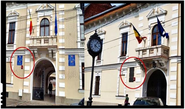 Românie, te mai numești tu stat unitar național și suveran și la Carei, dacă primarul UDMR de acolo a eliminat tricolorul de pe plăcuțele oficiale?, Foto: BuletindeCarei.ro