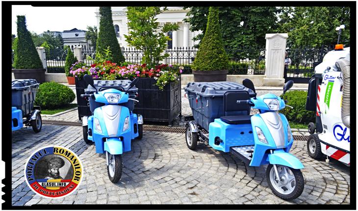 """Gunoiul ieșenilor va fi """"plimbat"""" cu noi achiziții inedite: tricicluri (mopede) electrice"""