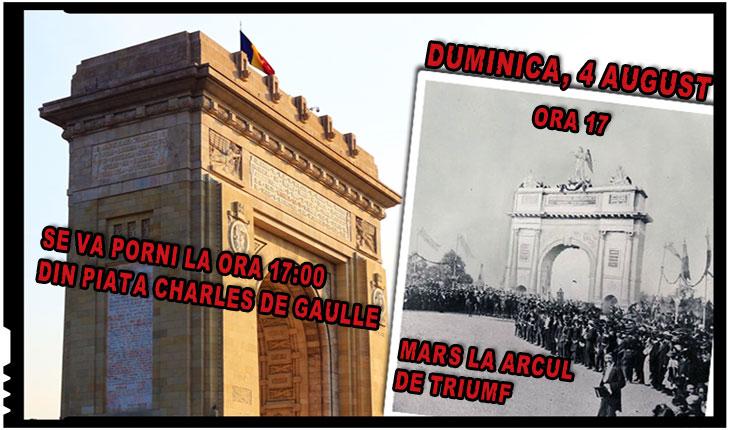 Asociația Calea Neamului: Duminică, 4 august, aniversăm, la Arcul de Triumf, Centenarul eliberării Budapestei de către Armata Română
