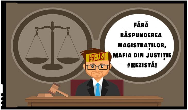 Cea mai periculoasă mafie din România este mafia din Justiție! România se sinucide pupând în cur această mafie!